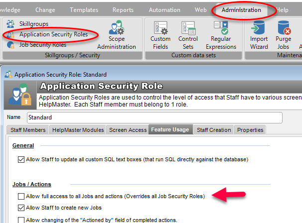application security role