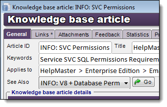 KCS knowledge article classification