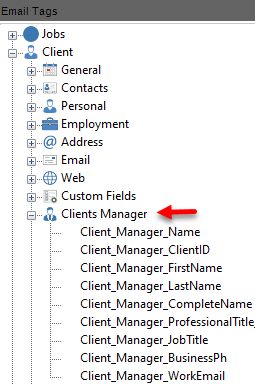 client manager email tag