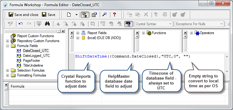 Crystal Reports Convert String To Date