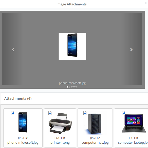 web self-service portal image preview