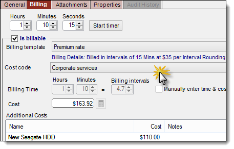 help desk time cost billing